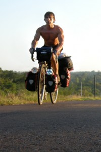 Gareth Collingwood (El Pedalero) riding in Paraguay