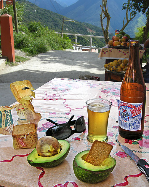 Beer and Avocadoes in Bolivia