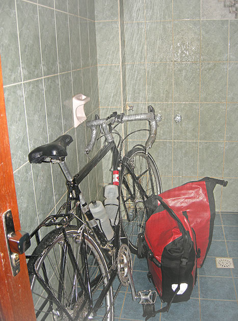 Bike-in-Shower