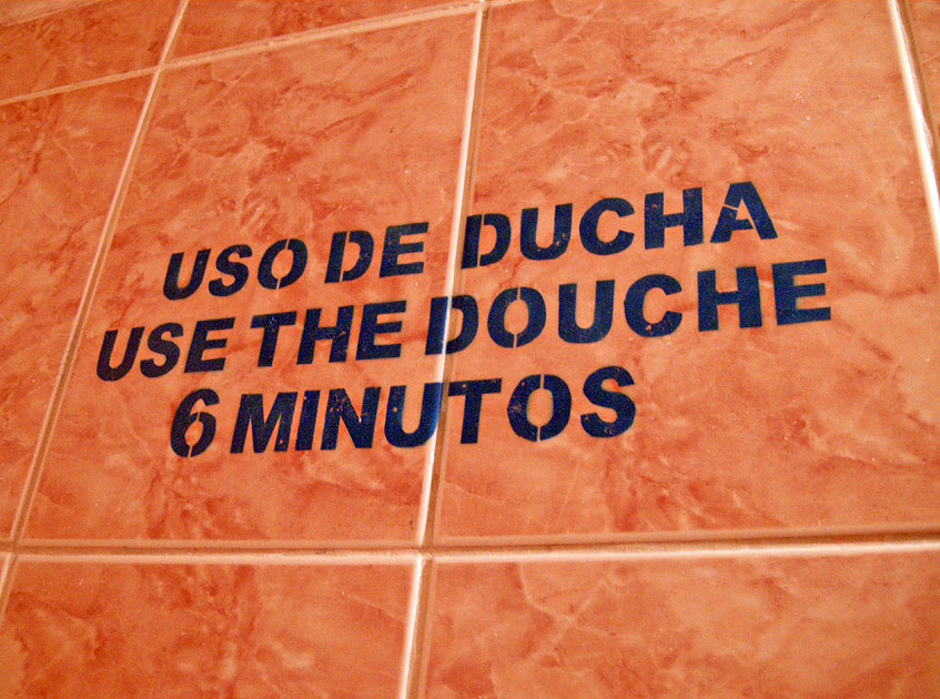 OK, I'll comply, but how long may I use the shower?